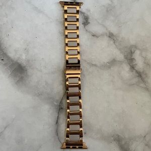 Gold tone Enamel Stainless Steel Apple Watch Band